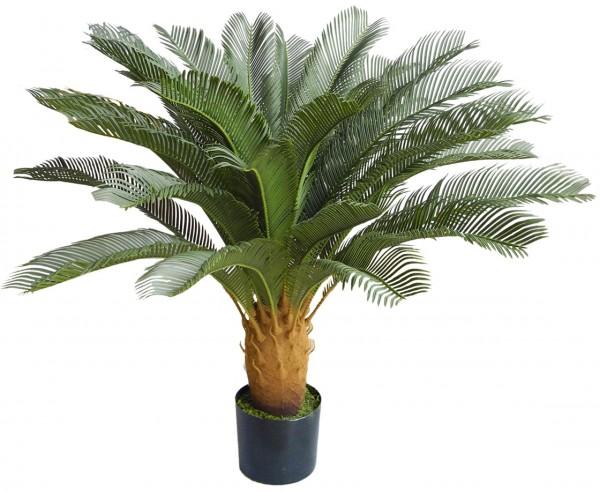 Cycaspalme Deluxe 90cm/120cm mit 24 Wedeln BE Kunstpalmen Kunstpflanzen künstliche Palmen Cycas