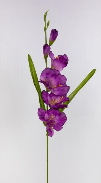 Gladiole 60cm lila FT Kunstblumen künstliche Schwertblume Blumen