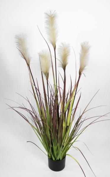 Pampasgras / Grasbusch 120cm LA Dekogras künstliches Gras Kunstpflanzen