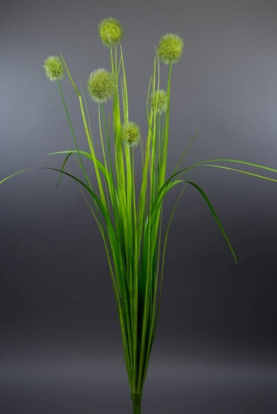 Kugelgrasbusch 72cm grün DP Kunstzweig künstlicher Graszweig Kunstgras künstliches Gras