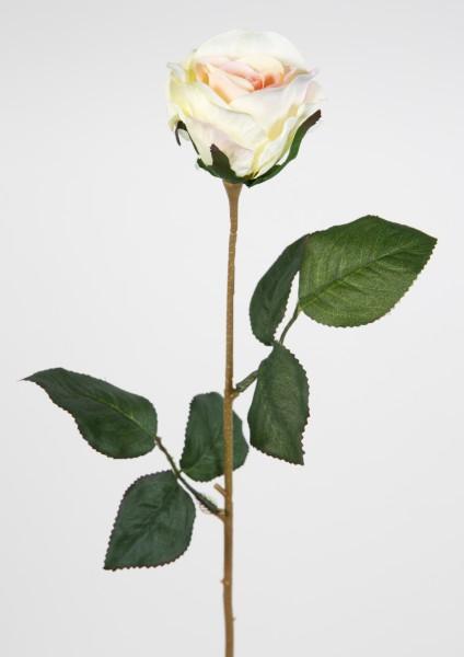Rose 45cm peach LM Kunstblumen künstliche Rose Rosen Blumen Seidenblumen