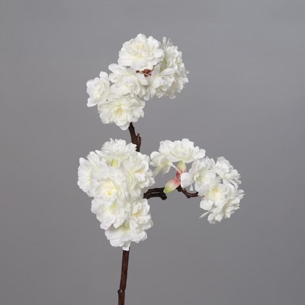 Kirschblütenzweig Nature 42cm weiß DP Kunstblumen Seidenblumen künstliche Kirschblüten Zweige Blumen