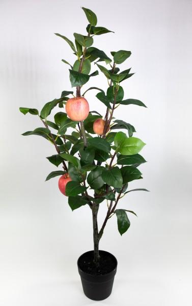 Apfelbaum 100x45cm GA Kunstbaum Dekobaum Kunstpflanzen künstlicher Apfel Baum Pflanze
