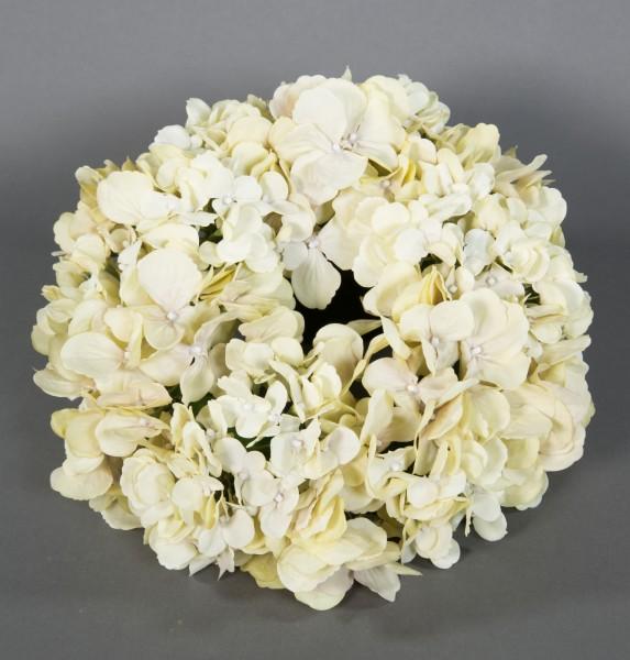 Hortensienkranz 32cm champagner-creme CG künstlicher Kranz künstliche Hortensien