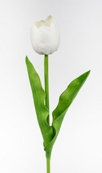 Künstliche Tulpe PU Real Touch 50cm weiß ZF Kunstblumen künstliche Blumen Tulpen