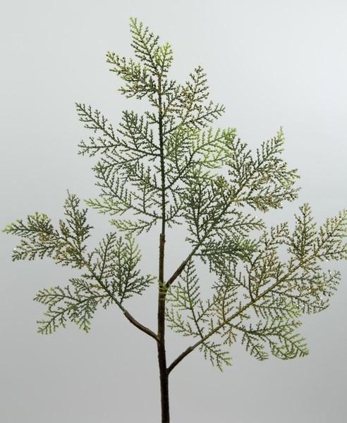 Zedernzweig 58cm grün-gold DP künstlicher Zweig Zeder Tannenzweig