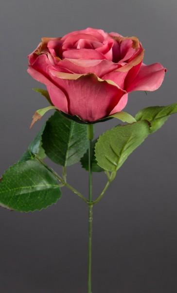 Rose 20cm pink IG Kunstblumen künstliche Rose Rosen Blumen Seidenblumen