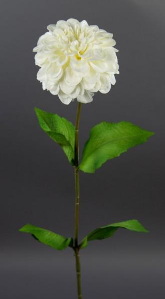 Dahlie 66cm weiß-creme CG Kunstblumen künstliche Dahlienzweig Blumen Seidenblumen