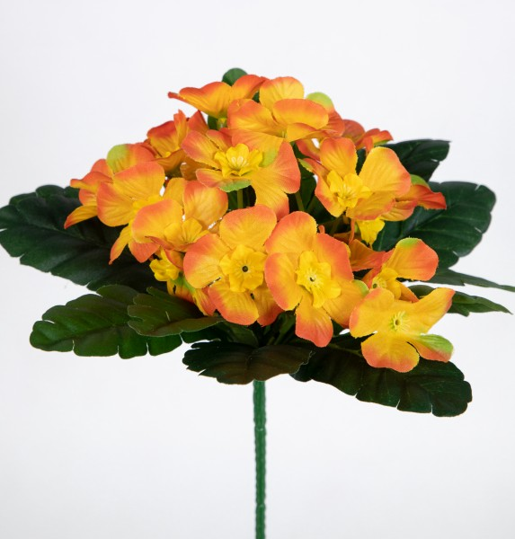 Primelbusch 24x22cm orange mit 20 Blüten PM Kunstblume Kunstpflanze künstliche Primel Schlüsselblume