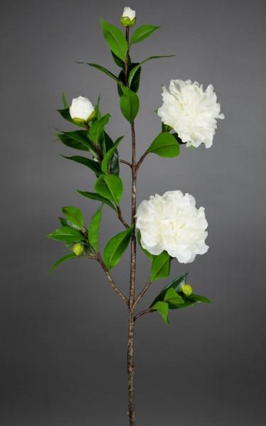 Kamelienzweig 98cm weiß CG Kunstblumen künstliche Blumen Kamelie Camelie
