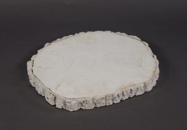 Pappelscheibe 30cm weiß gewischt SG Holzscheibe