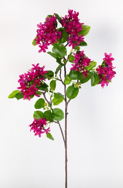Fliederzweig 90cm fuchsia ZF Kunstblumen Seidenblumen künstlicher Flieder Zweige Blumen