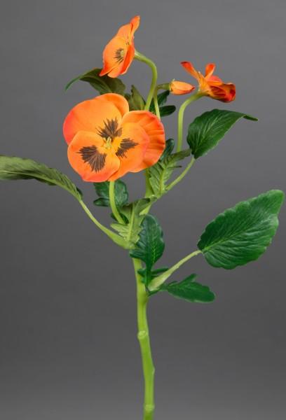 Stiefmütterchenzweig 36cm orange GA Kunstblumen Seidenblumen künstliche Blumen Stiefmütterchen