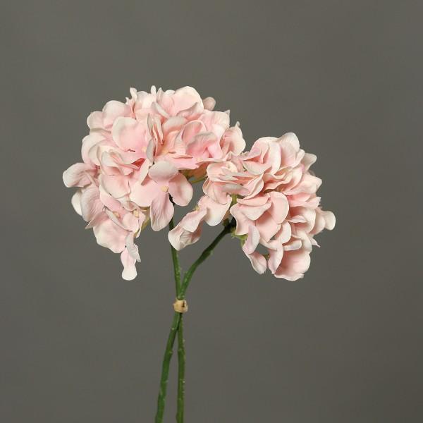 2 Stück Hortensie 30cm rosa DP Kunstblumen künstliche Blumen Hortensien