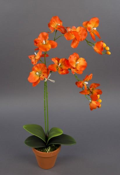 Orchidee 65cm orange DP Kunstblumen künstliche Blumen Orchideen Kunstpflanzen