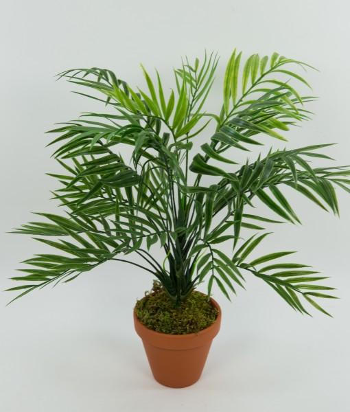 Zimmerpalme / Palmenbusch 42cm im Topf GA Kunstpflanzen Kunstpalmen künstliche Palme Dekopalme