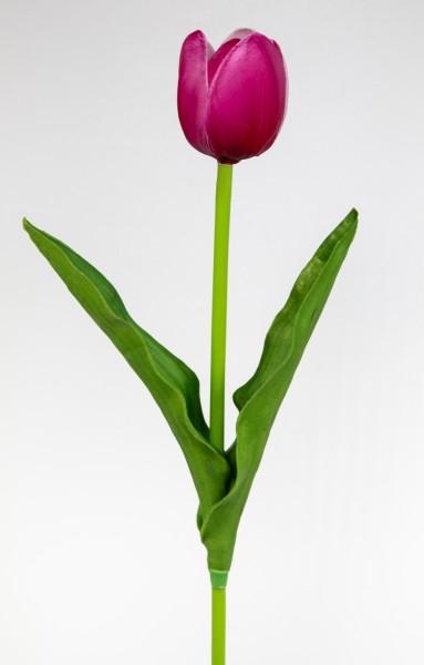 Künstliche Tulpe PU Real Touch 50cm pink ZF Kunstblumen künstliche Blumen Tulpen