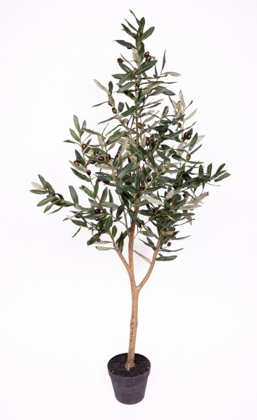 Olivenbaum 135cm im Topf ZF Kunstbaum Kunstpflanzen künstlicher Baum Dekobaum Olive