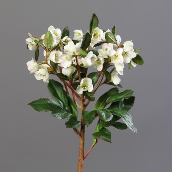 Christrose 42cm weiß mit 42 Blüten DP Kunstblumen künstliche Blumen Christrosenzweig Helleborus