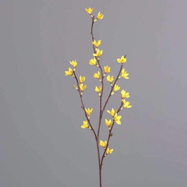 Forsythienzweig 75cm DP Kunstblumen künstliche Forsythie Goldflieder Goldglöckchen Blumen