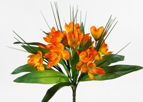 Krokusbusch 28cm orange PM Kunstpflanzen Kunstblumen künstlicher Crocus Krokus Blumen