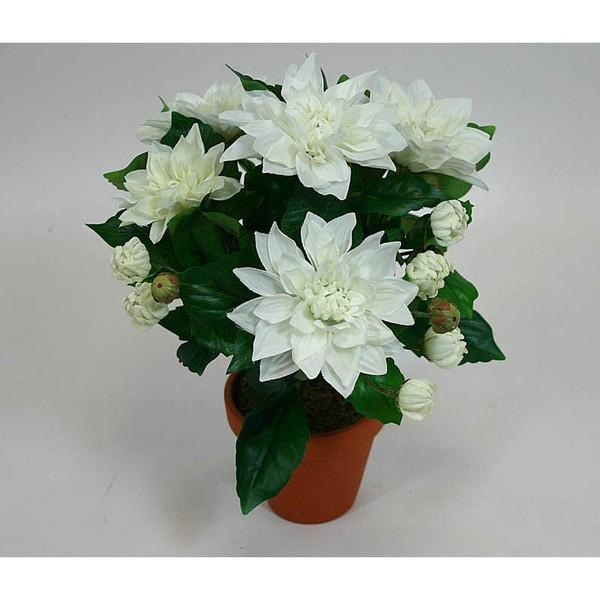 Dahlie 32cm weiß-creme FP Kunstpflanzen künstliche Blumen Kunstblumen