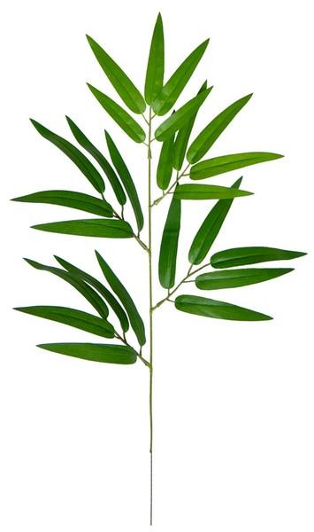 Bambuszweig 42cm mit 25 Blättern DA Künstlicher Zweig Bambus Kunstzweig