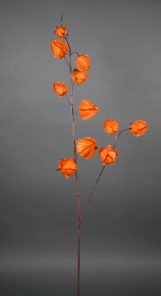 Physaliszweig 92cm orange CG künstlicher Laternenzweig Lampionzweig Zweig Physalis