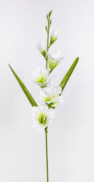 Gladiole 60cm weiß FT Kunstblumen künstliche Schwertblume Blumen