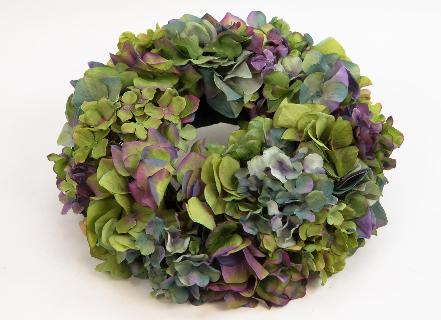 hortensienkranz 32cm blau gr n lila cg k nstlicher kranz k nstliche hortensien kr nze und. Black Bedroom Furniture Sets. Home Design Ideas