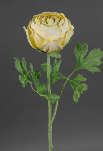 Große Ranunkel 56cm gelb GA Kunstblumen Seidenblumen künstliche Blumen Ranunkel