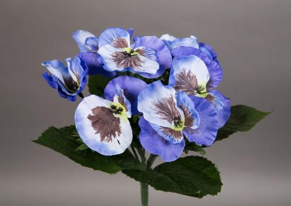 Stiefmütterchen 24cm blau LM Kunstpflanzen künstliche Pflanze Blumen Kunstblumen Veilchen