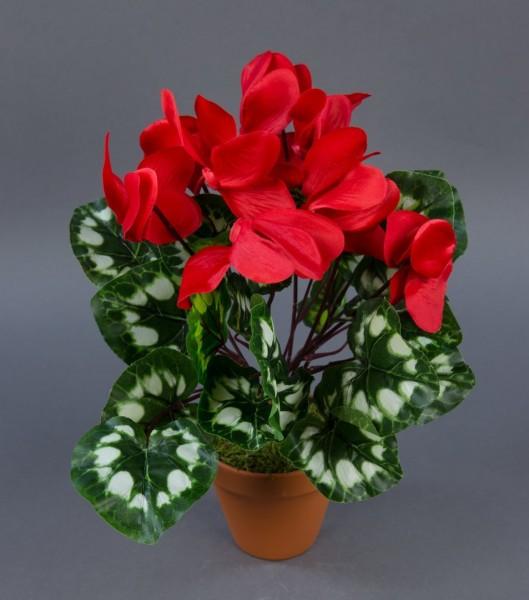 Alpenveilchen 36cm rot im Topf ZF künstliche Blumen Kunstpflanzen Kunstblumen