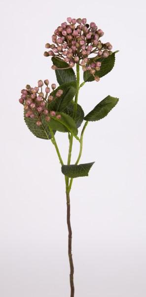 Schneeball / Viburnum Zweig 55cm rosa FT Kunstblumen Kunstpflanzen künstliche Blumen