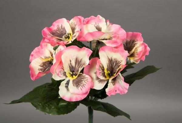 Stiefmütterchen 24cm rosa LM Kunstpflanzen künstliche Pflanze Blumen Kunstblumen Veilchen