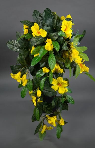 Hibiskusranke 70cm gelb ZF Kunstpflanzen Kunstblumen künstliche Pflanze künstlicher Hibiskus Eibisch