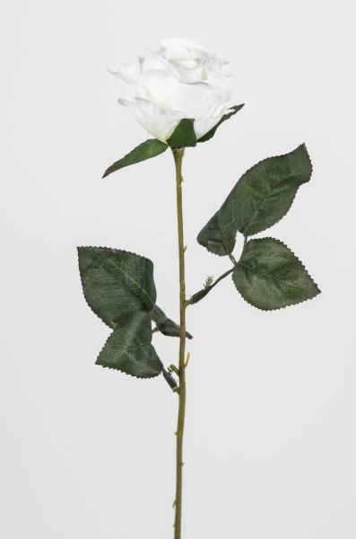 Rose 45cm weiß LM Kunstblumen künstliche Rose Rosen Blumen Seidenblumen
