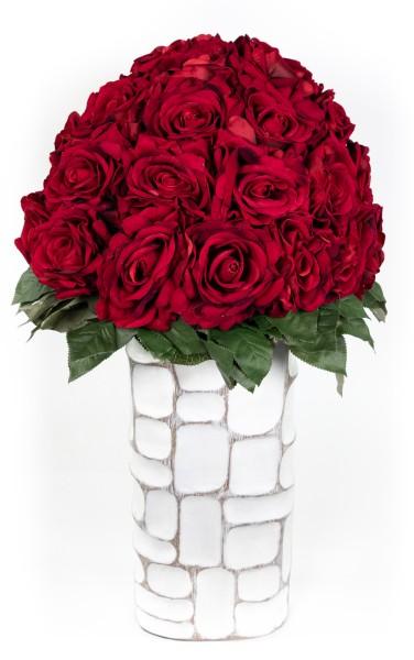 Baccararosenstrauß Exklusiv 56x46cm mit 38 Baccararosen JA Kunstblumen künstliche Blumen Strauß