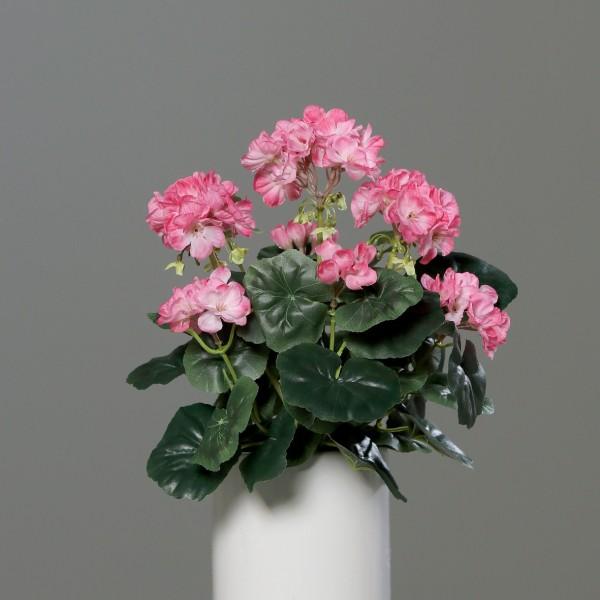 Geranie 36x28cm rosa -ohne Topf- DP Kunstpflanzen künstliche Blumen Pflanzen Kunstblumen