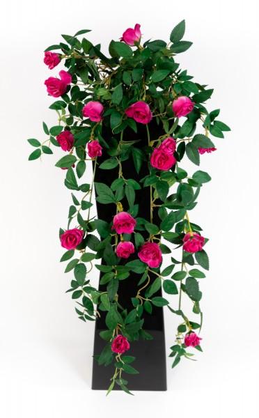 Rosenranke 62cm fuchsia ZF Kunstpflanzen Kunstblumen künstliche Pflanzen künstliche Rosen