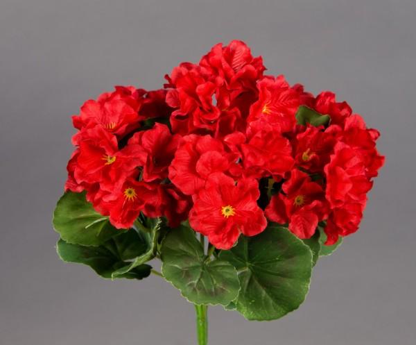 Geranie 26cm rot -ohne Topf- ZF (Modell 2018) Kunstpflanzen Kunstblumen künstliche Blumen Pflanzen