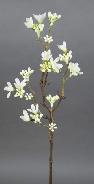 Quittenzweig / Quittenast 52cm weiß GA Kunstblumen künstliche Blumen Quitten Zweige