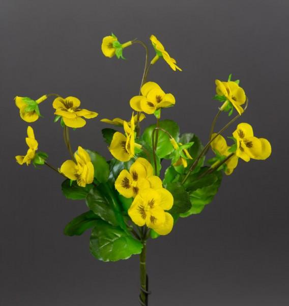 Hornveilchen 22cm gelb FI Kunstpflanzen Kunstblumen künstliche Veilchen Stiefmütterchen Pflanzen