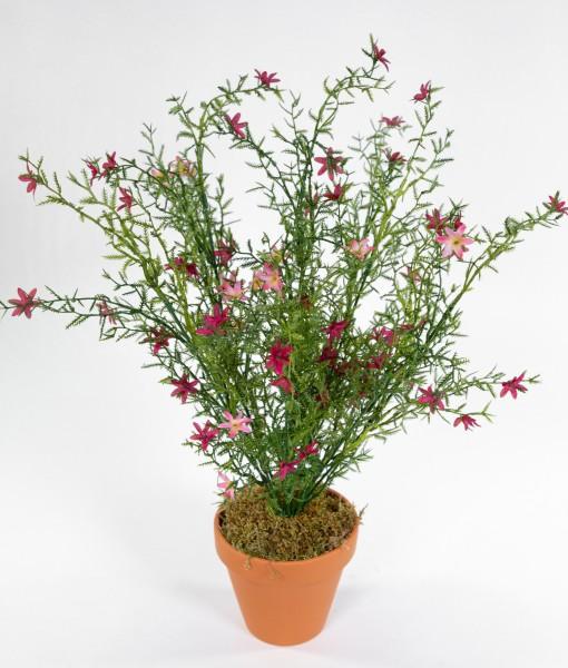 Blütenbusch 46cm rosa-pink im Topf GA Kunstpflanzen künstliche Pflanzen Blumen Kunstblumen