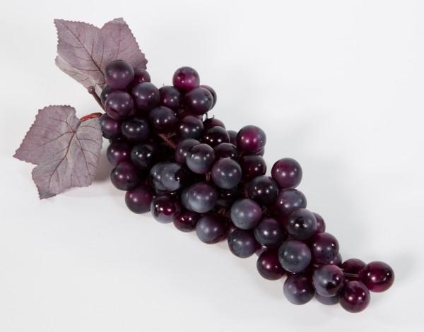 Künstliche Weintrauben 24cm dunkel-rot JA Dekoobst Kunstobst Künstliches Obst künstliche Trauben