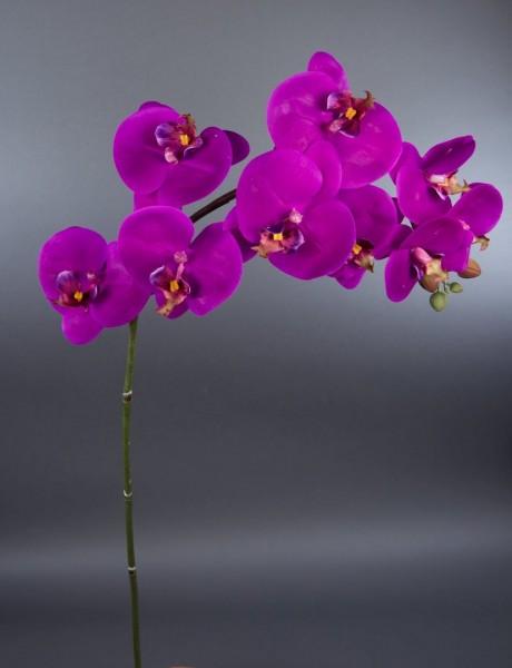 Orchideenzweig Real Touch 100cm fuchsia GA Kunstblumen künstliche Orchidee Blumen Kunstpflanzen