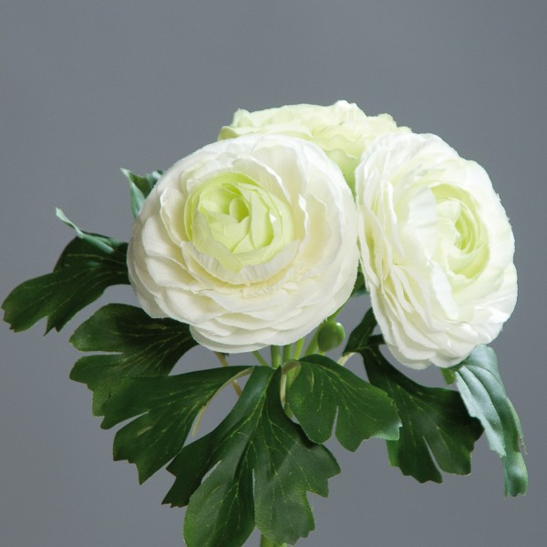 Ranunkelbouquet 20cm weiß DP Kunstblumen künstliche Ranunkel Blumen künstlicher Strauß