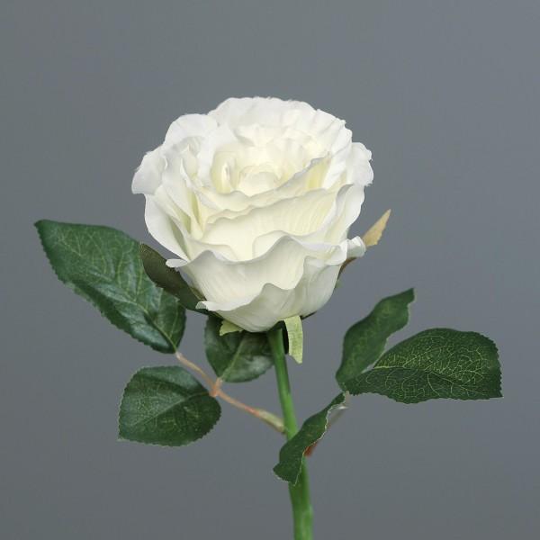 Rose 30cm weiß DP Kunstblumen künstliche Blumen