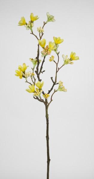 Quittenzweig / Quittenast 52cm gelb GA Kunstblumen künstliche Blumen Quitten Zweige