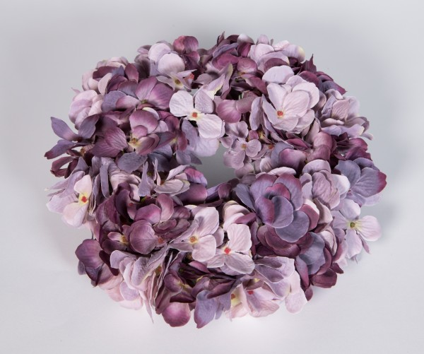 Hortensienkranz 32cm lila-mauve (pastell) JA künstlicher Kranz künstliche Hortensien